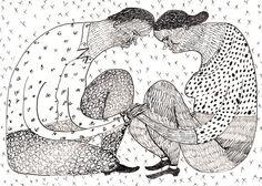 Love Forever / ORIGINAL ILLUSTRATION / ink drawing