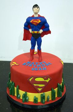 superman cake by www.fortheloveofcake.ca, via Flickr