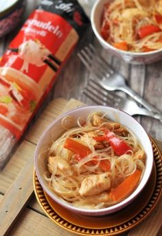 Csak a Puffin Japchae, Ethnic Recipes, Food, Essen, Meals, Yemek, Eten