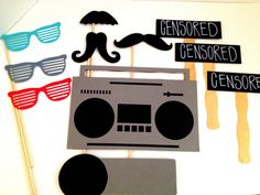 Hip+Hop+Photo+Props+Wedding+Photo+Booth+by+IttyBittyWedding,+$25.00