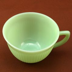 Vtg Jane Ray Jadeite Jadite Cup Fire King Anchor Hocking.