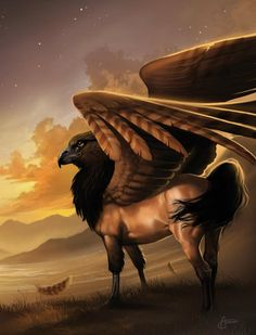 pretty cool...even doe it isnt a gryphon becuz gryphons have the body of a lion. this one is a horse.