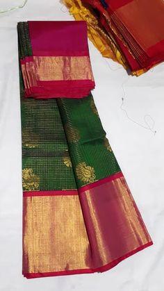 Kuppadam Pattu Sarees, Chanderi Silk Saree, Georgette Sarees, Half Saree Designs, Bridal Blouse Designs, Blouse Neck Designs, Kalamkari Blouse Designs, Simple Sarees, Kids Fashion