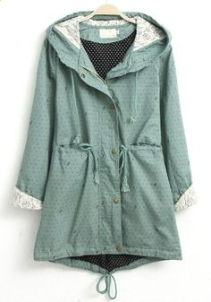 Spring outerwear is on my list. I like that the back is a little lower than the front hemline.