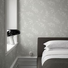 Arboretum is a botanical collection of wallpaper. How To Hang Wallpaper, Green Wallpaper, Wall Wallpaper, Sandberg Wallpaper, Bedroom Wallpaper, How To Make Curtains, Made To Measure Curtains, Inspirational Wallpapers, Slow Living