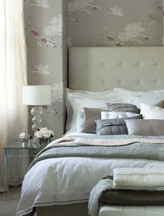 33 Glamorous Bedroom Designs : Glamorous Bedroom Designs In Grey And White Tones