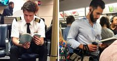 70 Best Posts From The 'Hot Dudes Reading' Instagram Page (New Pics) | Bored Panda Nyc Subway, Books For Boys, Bored Panda, Man Crush, Beautiful Men, Books To Read, Eye Candy, Posts, Guys