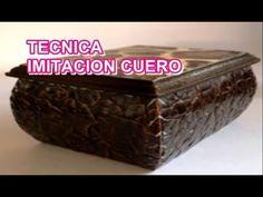 """Manualidades: Cajitas de Trupan con Tecnicas Variadas - By:""""Taller Dnella""""2014 - YouTube"""