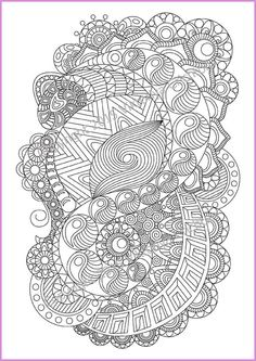 Adult coloring page Zentangle Pattern zentangle by ZentangleHouse
