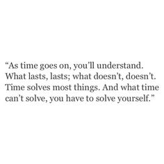 you have to solve yourself