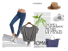 """""""ROMWE - 2"""" by thefashion007 ❤ liked on Polyvore featuring rag & bone, adidas and WithChic"""