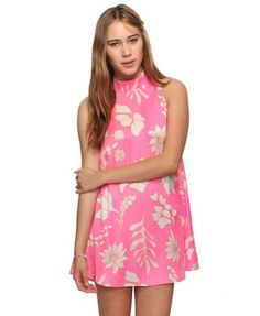 Retro mod floral babydoll minidress works well on its own with heel sandals or over white leggings with sandals as well. Forever 21 only $28