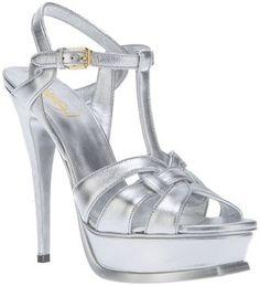 Yves Saint Laurent metallic high heel sandal best prom shoe ever!!!