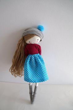 Handmade rag doll Laia ooak cloth art rag by lassandaliasdeana