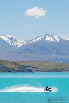 Lake Tekapo Jet Ski I | Flickr   Jet skiing in New Zealand would be a dream come true for me.