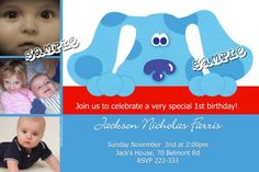 Blues Clues Birthday Invitations   Get these invitations RIGHT NOW. Design yourself online, download and print IMMEDIATELY! Or choose my printing services.   No software download is required. Free to try!