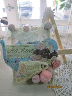 Tea party pin cushion *Msgardengrove1