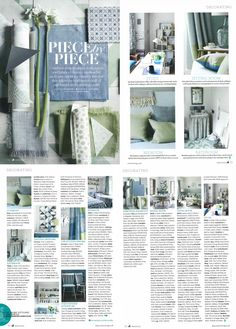Country Living - March 2015. This gorgeous, springy shoot used our patterned pale blue Chateaux tile which is perfect for feature areas and splashbacks.