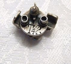 """Vintage Sterling """"T42"""" (Tea for Two) Mechanical Charm - Chairs Swivel! 2 Cute!!"""