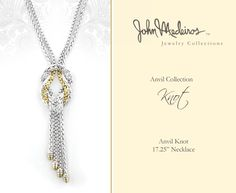 John Medeiros Jewelry Collections Anvil Knot necklace #jewelry #knot #necklace