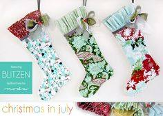 Christmas in July with Moda: English Cottage Stockings in Blitzen | Sew4Home