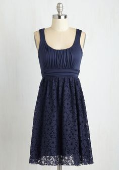 Artisan Iced Tea Dress in Blueberry - Blue, A-line, Empire, Summer, Solid, Best Seller, Scoop, Casual, Lace, Sundress, Social Placements, Full-Size Run, Short, Sleeveless, Knit, Good, Top Rated