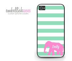 iPhone 4 Case. elephant iphone 4 case green & by EmbellishCases