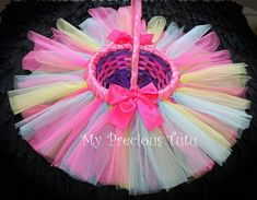 Hey, I found this really awesome Etsy listing at https://www.etsy.com/listing/124916559/tutu-easter-basket-by-my-precious-tutu