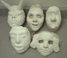 face mask for using modroc to for art mask making - Google Search