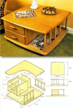 Coffee Table Plans - Furniture Plans and Projects | WoodArchivist.com