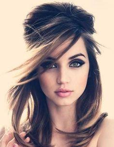Coiffure visage rond cheveux mi-longs