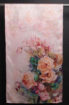 100% Silk Satin Women Scarf 67X20 Shawl Wrap Pink Red Green Large S148-012-X