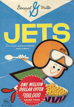 Nostalgic indeed Jets Cereal...love the 1 million dollar offer but the award is $100K.