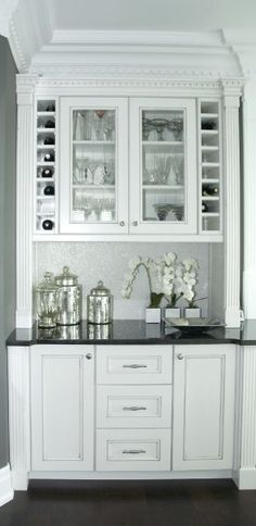 white built in bar - Google Search