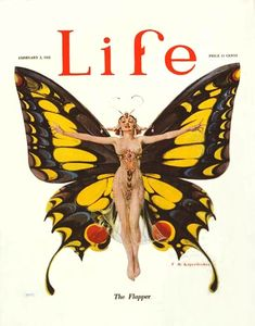 1922 'Life' masthead-logo when it was a humor magazine, before the name was bought by 'Time' and it evolved into the renowned photojournal. | cover art by F. X. Leyendecker