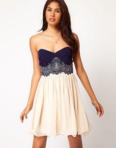 Ingrandisci Little Mistress - Prom dress con corpino in pizzo