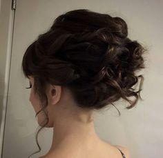 25 cute voluminous updo for curly hair Capelli Ricci Updo 400247385ac7