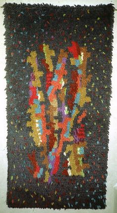 """Gunta Stolzl - Hand-knotted wall hanging """"Geäst"""" (branches) ca. 1962 Private collection"""