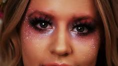 I love the way the glitter frames her eyes from the cheek bones upwards