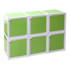 Easy-Storage College Cubes - Lime Green