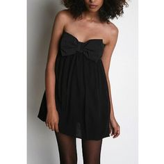 Silence And Noise Black Bow Party Dress