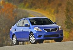 Fall fashions are our favorite. One color that never goes out of style is the Nissan Versa in Metallic Blue.