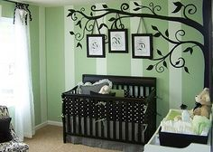 "Tree Wall Decal Wall Sticker Art nursery wall by WallDecalDepot        Love this!   It would be cute to ""hang"" the letters of her name from the tree branches!"