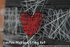 lenten nail and string art