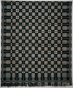 Coverlet, Virginia Beauty pattern with Pine-tree border | American | The Met