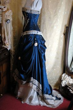Custom made adjustable steampunk corset gown