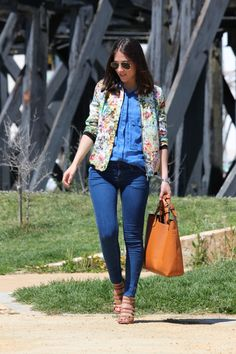Denim and floral!