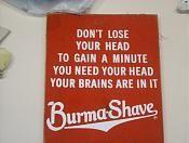 Burma shave..