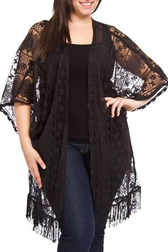 Highness nyc quinn kimono in black - beyond the rack roupas Curvy Outfits, Plus Size Outfits, Baby Girl Lehenga, Cute Overall Outfits, Date Night Outfit Curvy, Indian Baby Girl, Girls Crop Tops, Indian Blouse, Lehenga Designs
