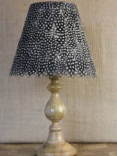 Our guinea fowl lampshades - made to (almost) any size
